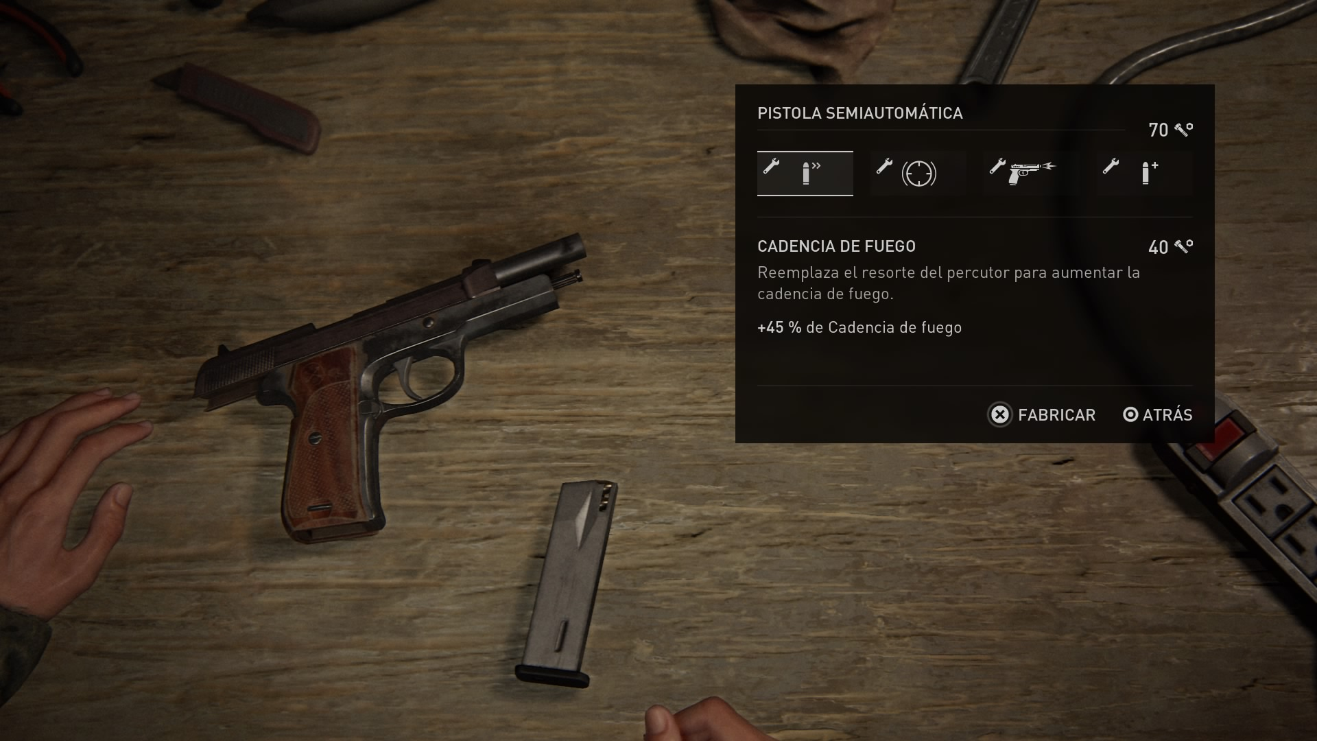 The Last of Us 2 (Mejoras de armas)
