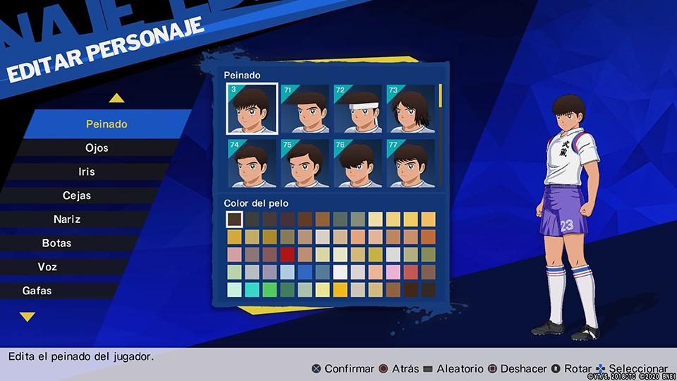 Editor personajes
