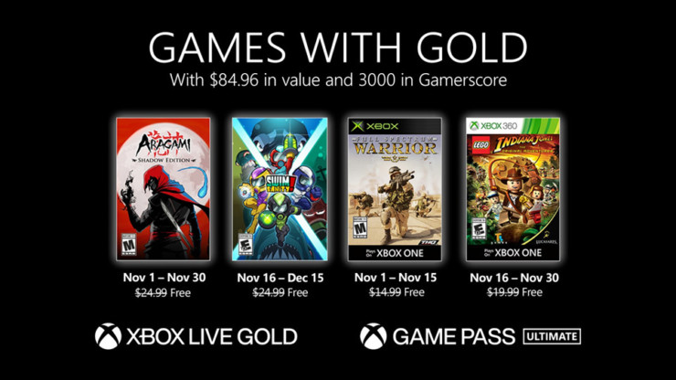 games with gold noviembre
