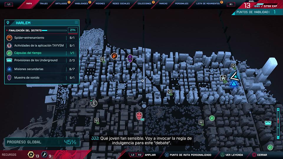 mapa actividades