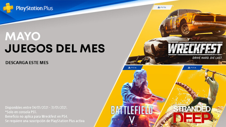 PlayStation Plus en mayo