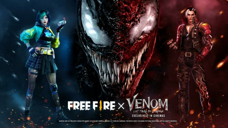 Free Fire x Venom: Habrá Matanza