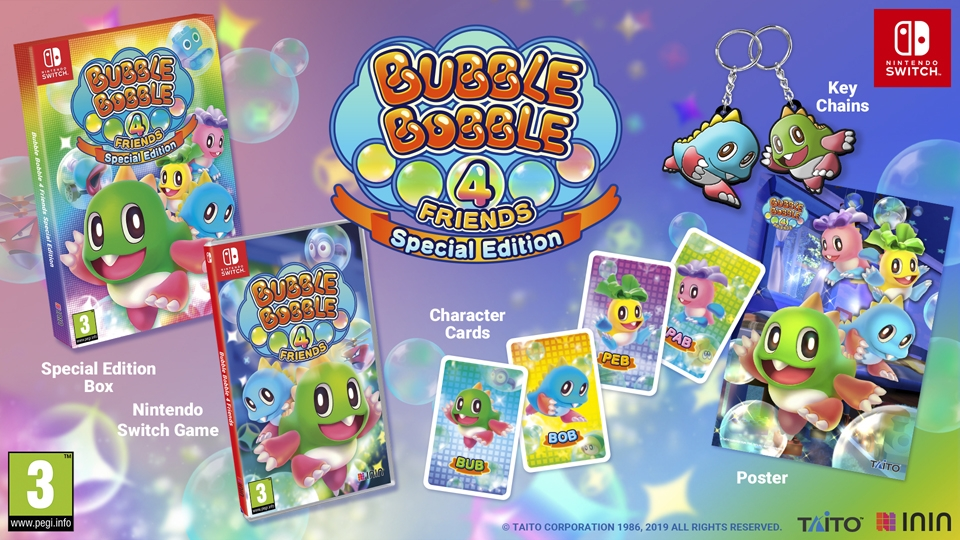 Edición física Bubble Bobble 4 Friends