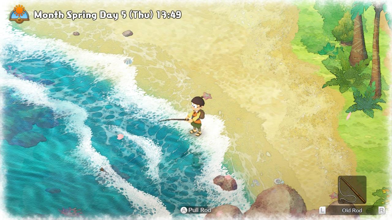 Nobita pescando