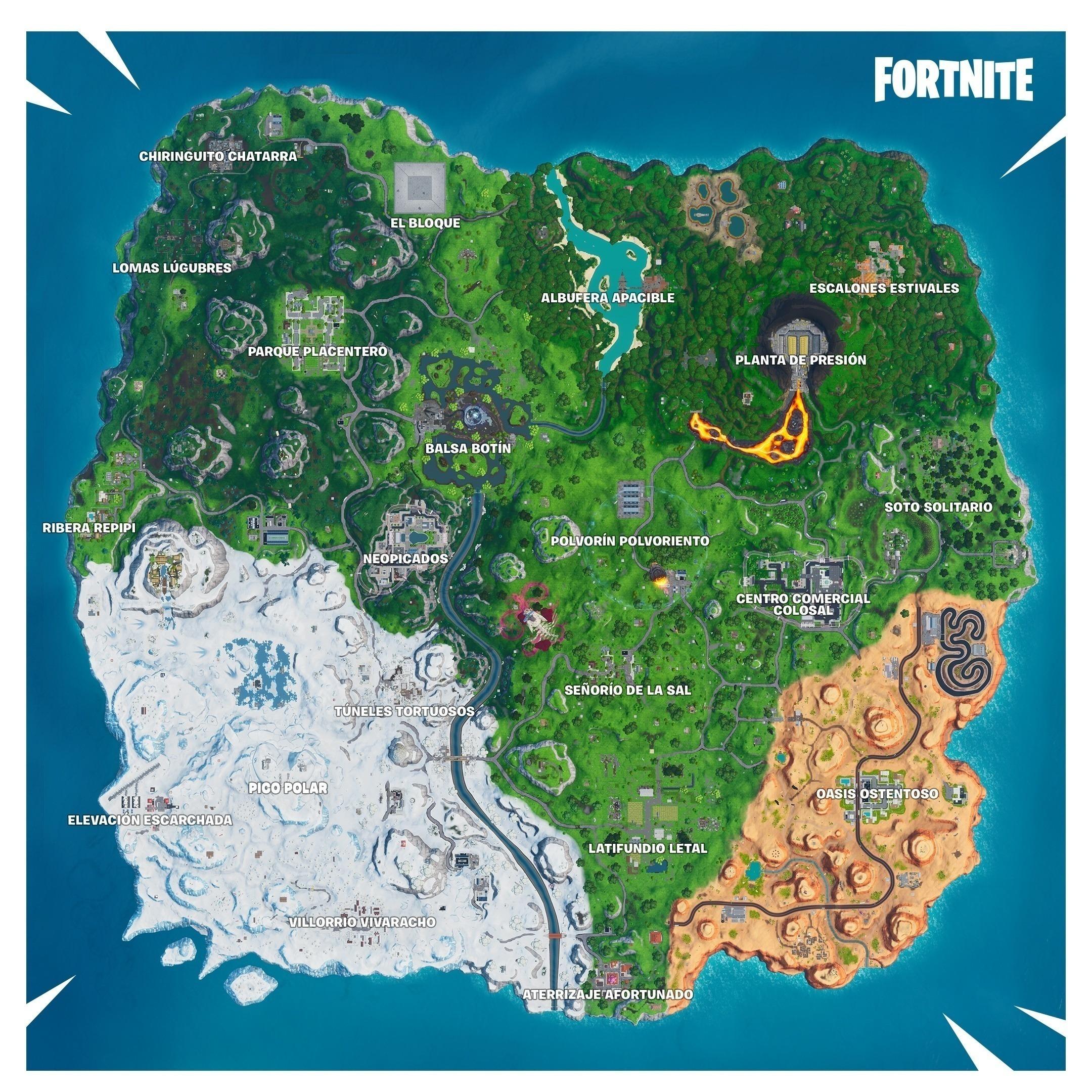 temporada x mapa