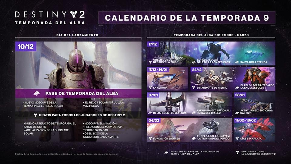 Destiny 2: Temporada del alba